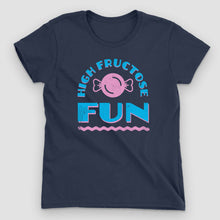 Load image into Gallery viewer, High Fructose Fun Women's Graphic T-Shirt - Snaxtime Retro Style Food Apparel
