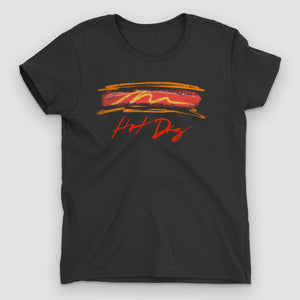 Hot Dog Women's Graphic T-Shirt - Snaxtime Retro Style Food Apparel