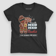 Load image into Gallery viewer, Vanilla Ice-d Gingerbread Cookie Women's Graphic T-Shirt - Snaxtime Retro Style Food Apparel