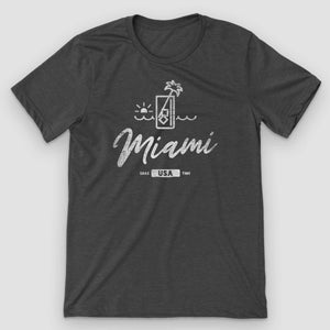 Miami Sunset Mojito Graphic T-Shirt - Snaxtime Retro Style Food Apparel