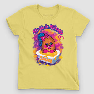 Nugs and Kisses Women's Graphic T-Shirt - Snaxtime Retro Style Food Apparel