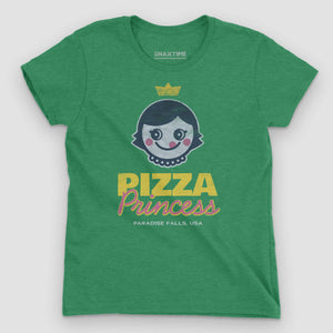 Pizza Princess Women's Graphic T-Shirt - Snaxtime Retro Style Food Apparel