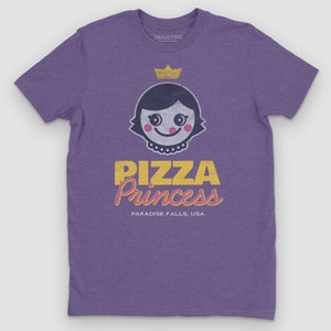 Pizza Princess Graphic T-Shirt - Snaxtime Retro Style Food Apparel