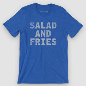 Salad and Fries Graphic T-Shirt - Snaxtime Retro Style Food Apparel