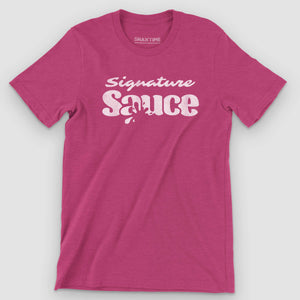 Signature Sauce Unisex T-Shirt - Snaxtime Retro Style Food Apparel