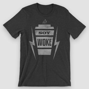 Soy Woke Latte Graphic T-Shirt - Snaxtime Retro Style Food Apparel