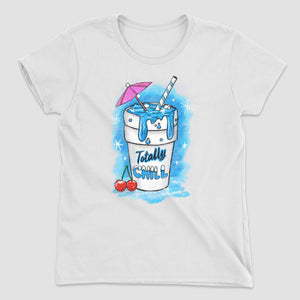 Totally Chill Women's Graphic T-Shirt - Snaxtime Retro Style Food Apparel