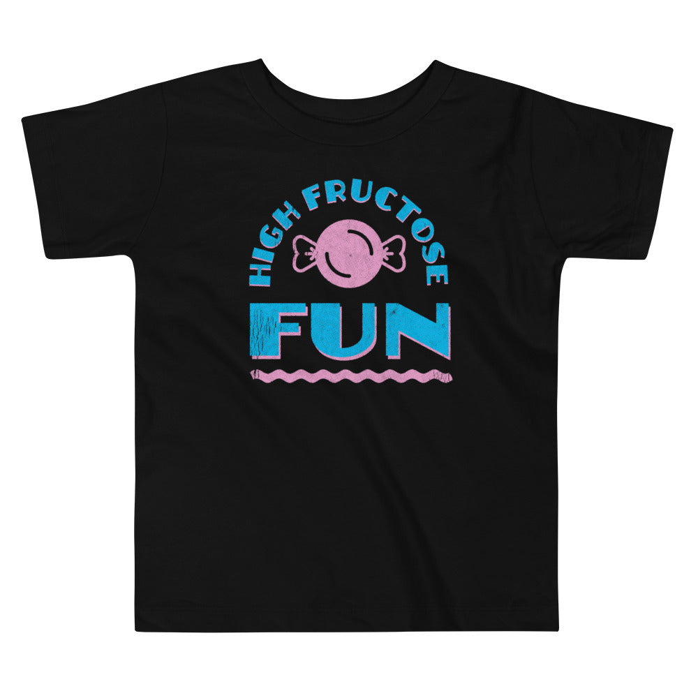 High Fructose Fun Graphic Toddler T-Shirt - Snaxtime Retro Style Food Apparel