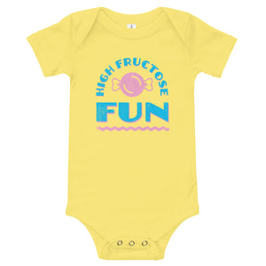 High Fructose Fun Baby One-Piece Bodysuit - Snaxtime Retro Style Food Apparel