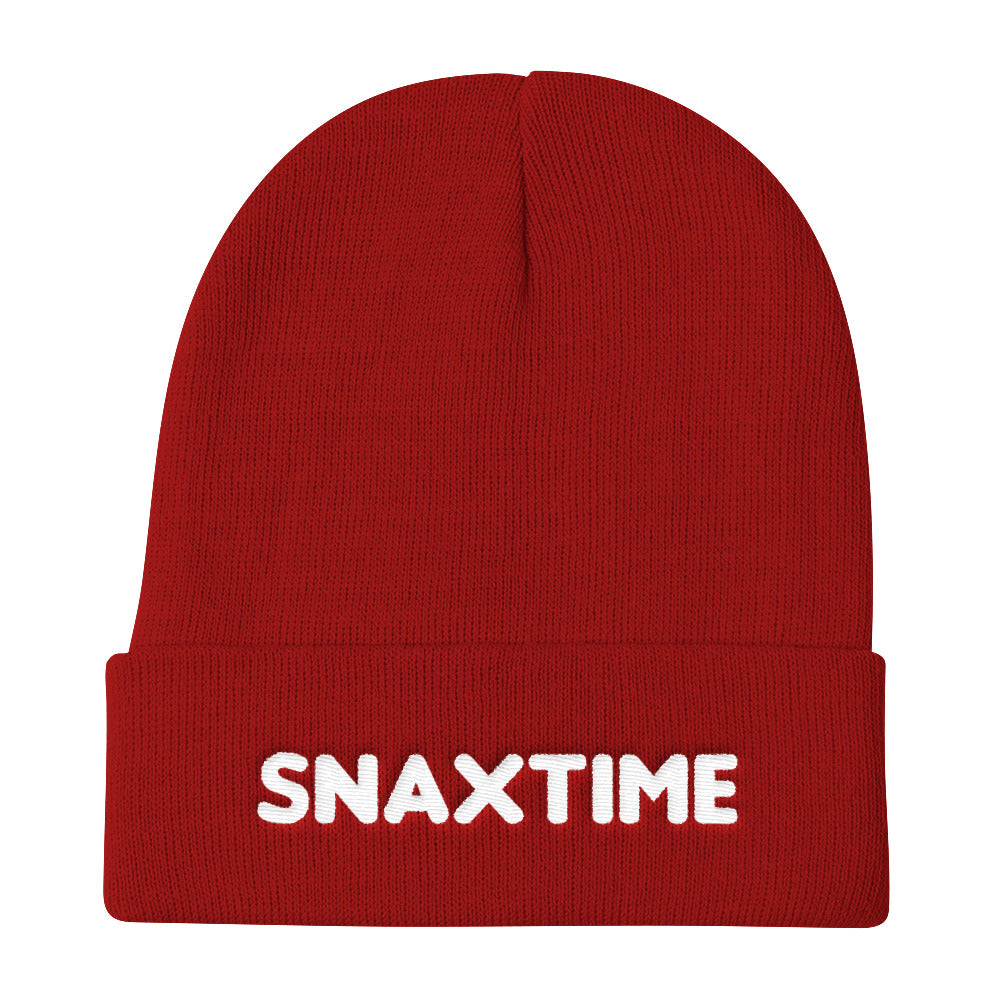 Snaxtime Embroidered Beanie - Snaxtime Retro Style Food Apparel