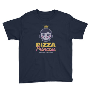Pizza Princess Youth Short Sleeve T-Shirt - Snaxtime Retro Style Food Apparel