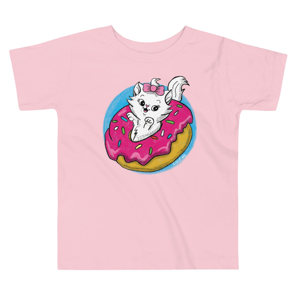 Donut Kitty Graphic Graphic Toddler T-Shirt
