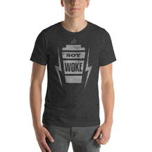 Load image into Gallery viewer, Soy Woke Latte Graphic T-Shirt - Snaxtime Retro Style Food Apparel