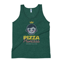 Load image into Gallery viewer, Pizza Princess Unisex Premium Tri Blend Tank Top - Snaxtime Retro Style Food Apparel