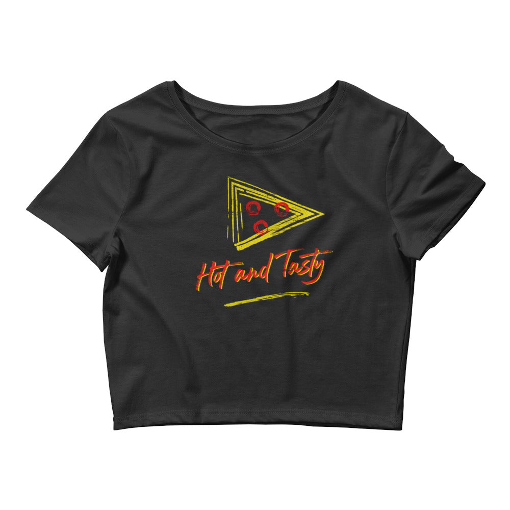 Hot and Tasty Women's Crop Top Tee - Snaxtime Retro Style Food Apparel