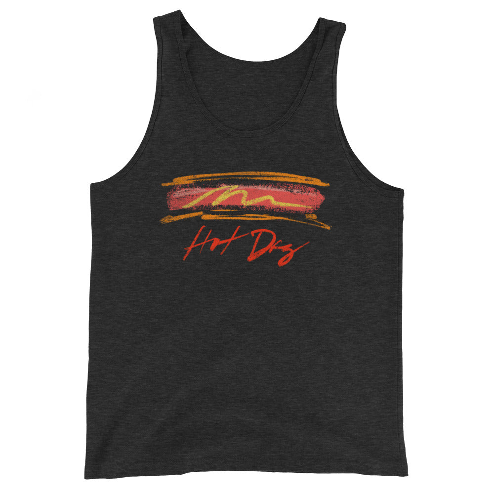 Hot Dog Unisex Premium Tri Blend Tank Top - Snaxtime Retro Style Food Apparel