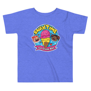 Snaxtime Ice Cream Hut Graphic Toddler T-Shirt - Snaxtime Retro Style Food Apparel