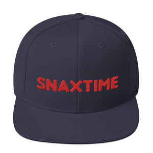 Snaxtime Snapback Hat - Snaxtime Retro Style Food Apparel