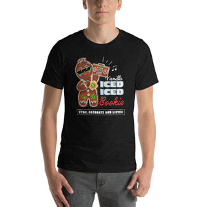 Vanilla Ice-d Gingerbread Man Graphic T-Shirt - Snaxtime Retro Style Food Apparel