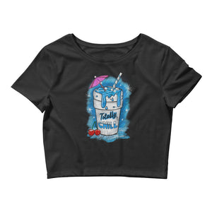 Totally Chill Women's Crop Top Tee - Snaxtime Retro Style Food Apparel
