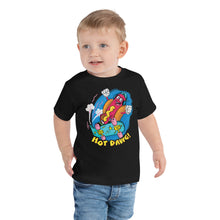 Load image into Gallery viewer, Retro Cartoon Hot Dog Toddler Graphic T-Shirt - Snaxtime Retro Style Food Apparel