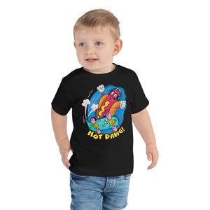 Retro Cartoon Hot Dog Toddler Graphic T-Shirt - Snaxtime Retro Style Food Apparel