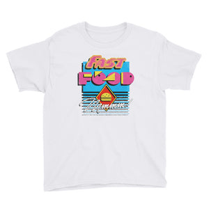 90s Fast Food Youth Short Sleeve T-Shirt - Snaxtime Retro Style Food Apparel