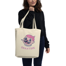 Load image into Gallery viewer, Snaxtime Eco Tote Bag - Snaxtime Retro Style Food Apparel