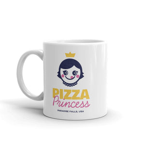 Pizza Princess Coffee Mug - Snaxtime Retro Style Food Apparel