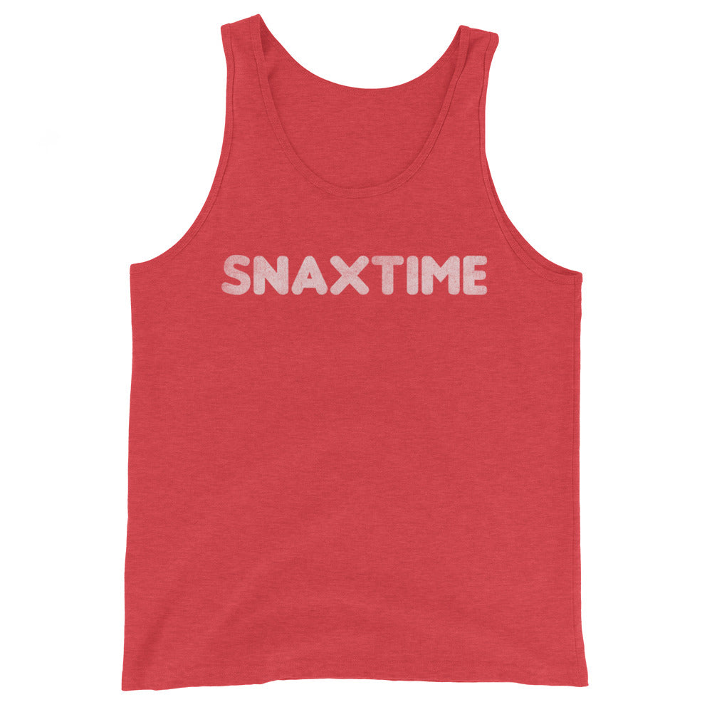 Snaxtime Summer Job Unisex Premium Tri Blend Tank Top - Snaxtime Retro Style Food Apparel