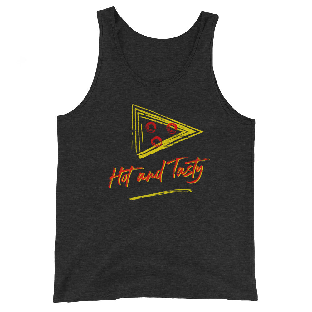 Retro Hot & Tasty Pizza Unisex Premium Tri Blend Tank Top - Snaxtime