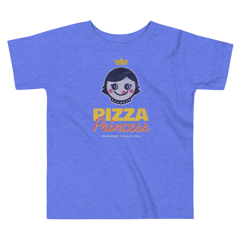 Pizza Princess Graphic Toddler T-Shirt - Snaxtime Retro Style Food Apparel