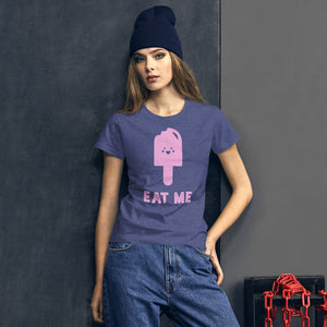 Eat Me Women's Graphic T-Shirt - Snaxtime Retro Style Food Apparel