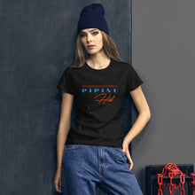 Load image into Gallery viewer, Piping Hot Women's Graphic T-Shirt - Snaxtime Retro Style Food Apparel