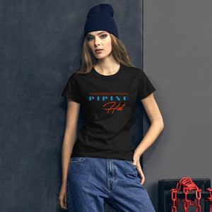 Piping Hot Women's Graphic T-Shirt - Snaxtime Retro Style Food Apparel