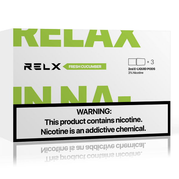 RELX Replacement Pods Cartridges - Fresh Cucumber - Vape Masterz