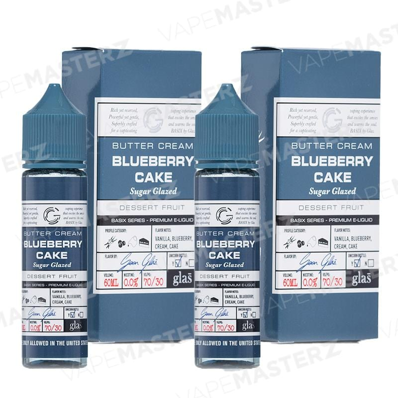 GLAS E-Liquid - Blueberry Cake - 60mL - Vape Masterz
