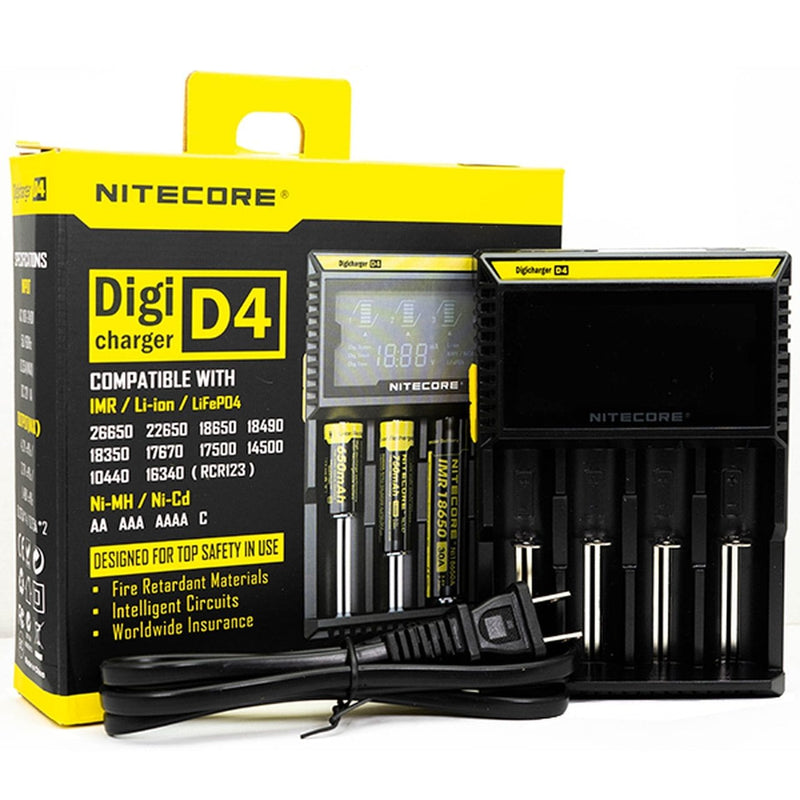 NITECORE Digicharger D4 Battery Charger - Vape Masterz