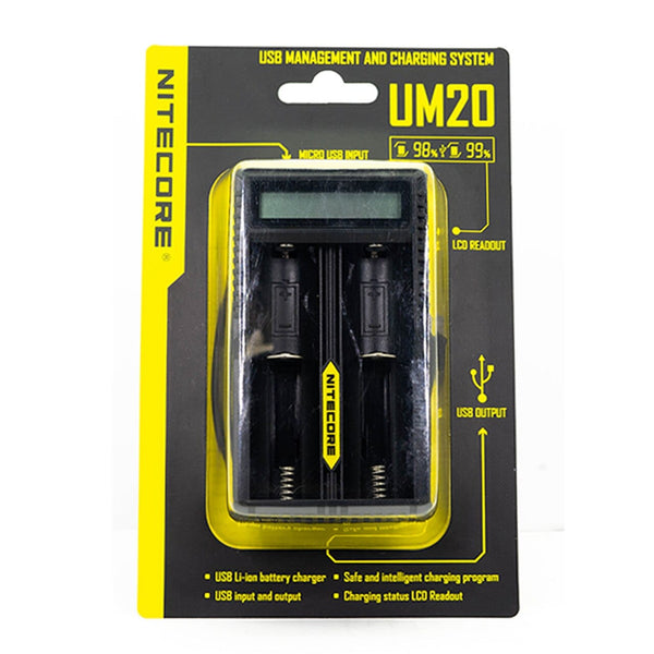 NITECORE UM20 Digital Smart Charger - Vape Masterz