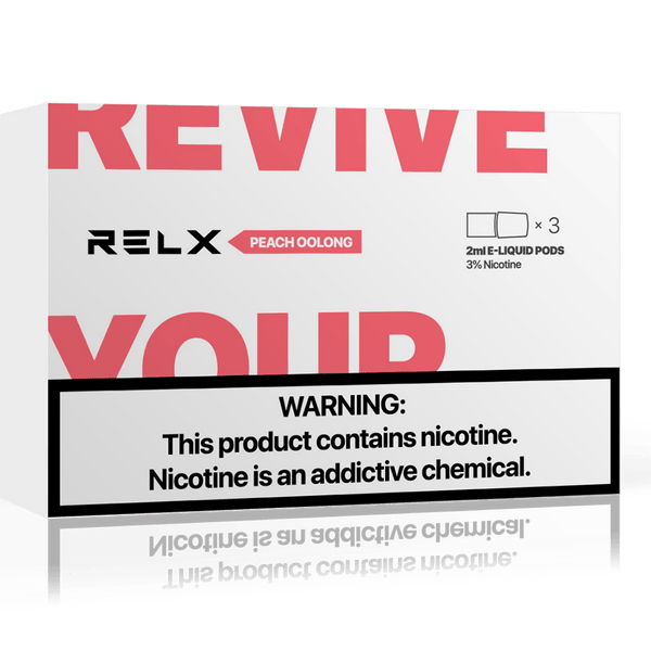 RELX Replacement Pods Cartridges - Peach Oolong - Vape Masterz