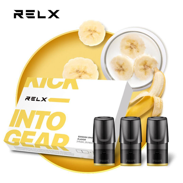 RELX Replacement Pods Cartridges - Mellow Yellow Banana - Vape Masterz