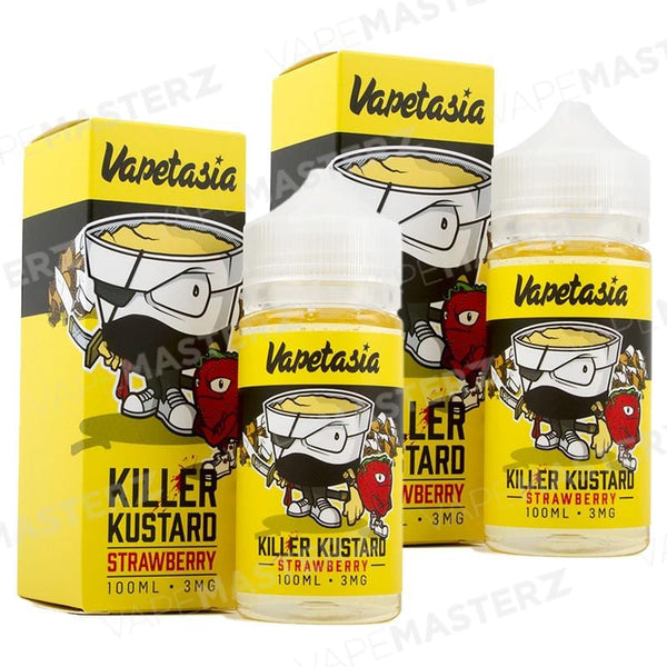 VAPETASIA Killer Kustard Strawberry - 100mL - Vape Masterz