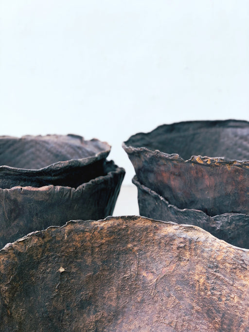 Antique Leather Bowls