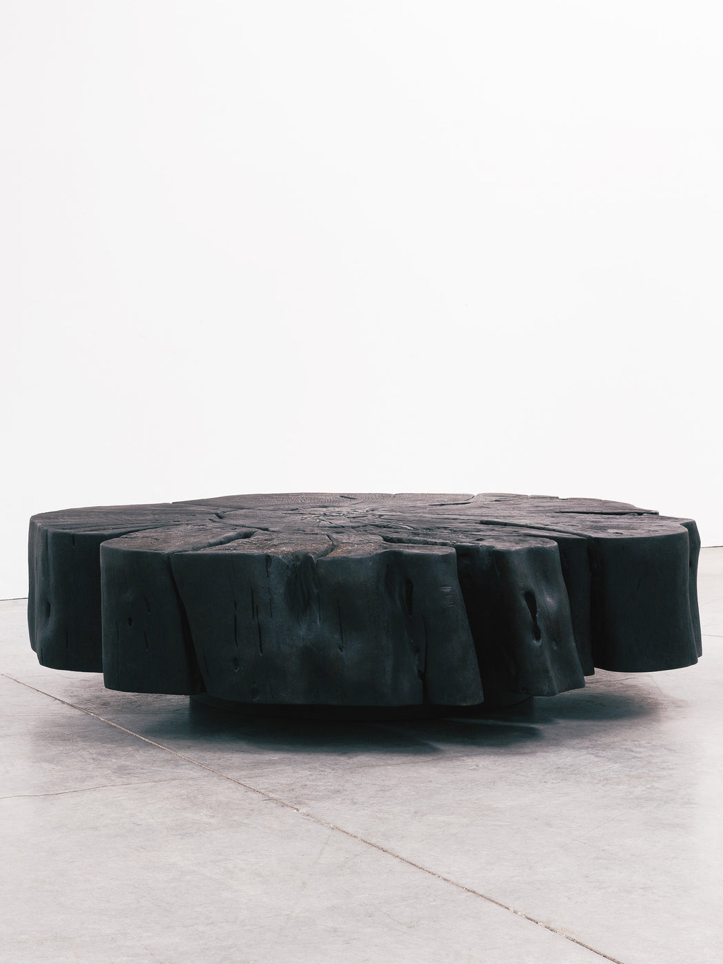 Charred Organic Slab Table