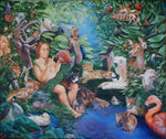 Adam Naming the Animals and the Appearance of Eve Giclees