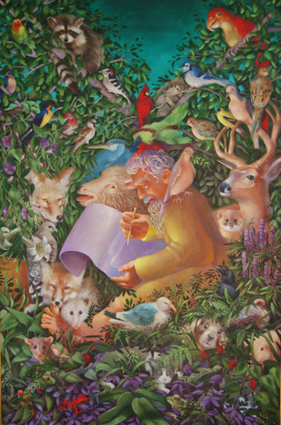 Noah and the Animals Before the Great Flood Giclees