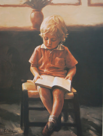 Boy Reading- Limited Edition Print