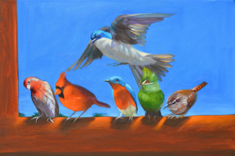 The Epiphany Blue Sky Birds #1 and Blue Skies Birds #2 Giclees