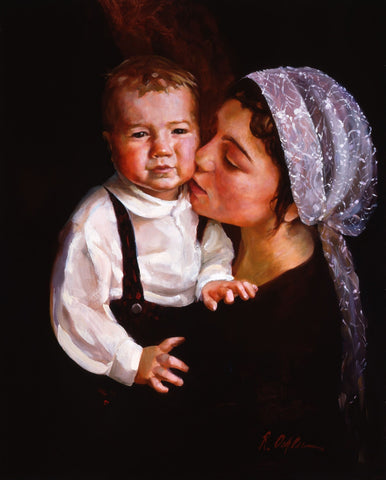Mother and Child canvas giclee