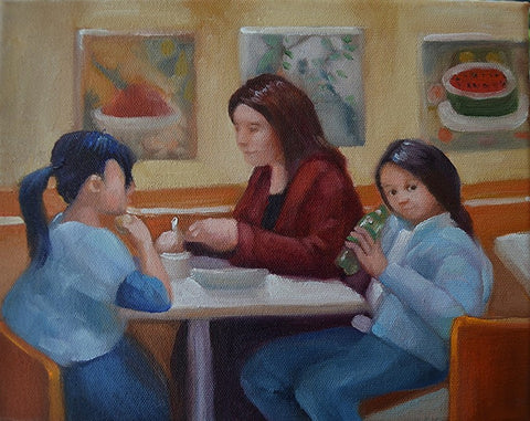 Lunch With Children at the National Gallery, Washington DC